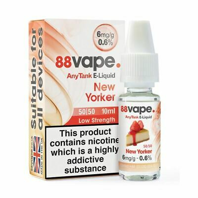88VAPE VALUE Pack of 20 E-Liquids NEW YORKER 6mg BULK BUY MADE IN THE UK