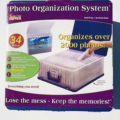 Cropper Hopper Photograph Organization and Storage System Hard Box Case