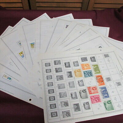 Very nice collection of stamps from Seychelles many MNH complete sets up to $24