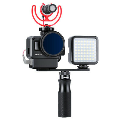 Ulanzi V2 Pro Vlog Protective Case with 52mm Filter Mic Adapter Lens