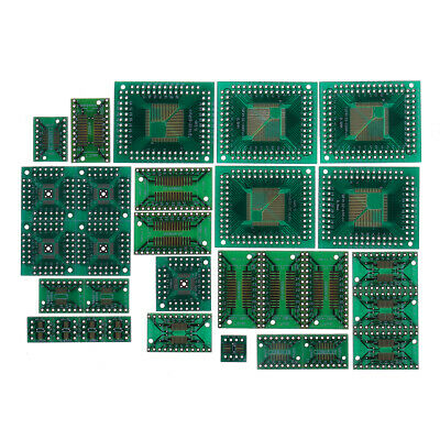 150pcs PCB Board Kit SMD Turn To DIP Adapter Converter Plate FQFP