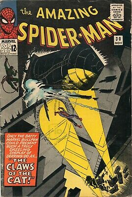 AMAZING SPIDER-MAN # 30 / 1965 V.GOOD / 1st APPEARANCE OF THE CAT.