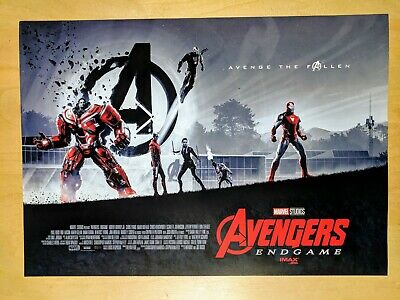 "Avengers Endgame AMC IMAX Exclusive Poster 11"" x 15.5"" Week 1 Free Shipping"