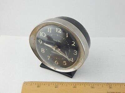 VINTAGE Westclox Baby Ben Alarm Clock 58056 Plastic Chrome Black Dial WORKS WELL