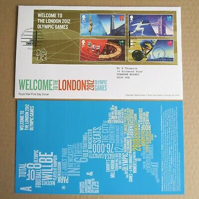 London 2012 Olympic Games 27.7.2012 GB FDC Special Postmark + insert Mint