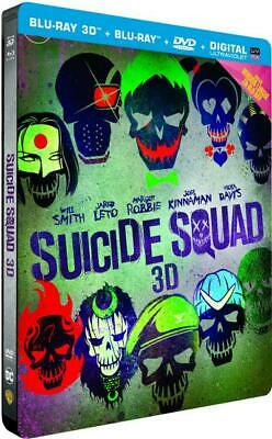 SUICIDE SQUAD - Edition Limitee SteelBook - Blu-ray 3D + 2D + DVD - NEUF / CELLO