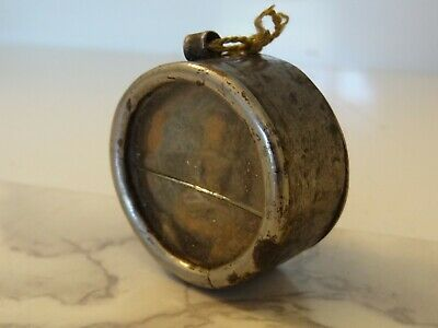 Antique  Mongolian Buddhist Hand Made Metal Gau Pendant With Clay Tsa Tsa