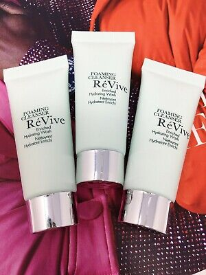 REVIVE Foaming Cleanser Enriched Hydrating Wash 7ml x 3 - Travel Size NEW SEALED