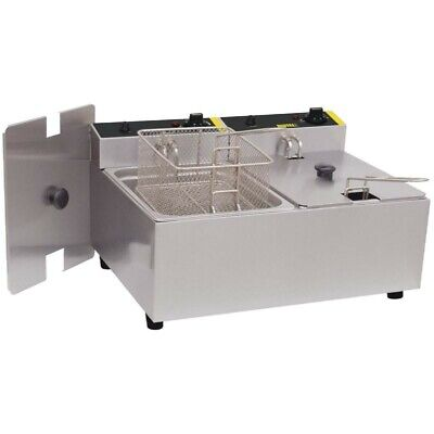 Buffalo L 485 - 02 Twin Tank Twin Basket Electric Fryer 2x2.8kW ( 2 x 5L )
