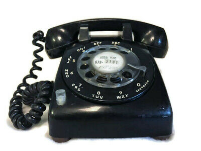 Vintage Stromberg-Carlson Black Rotary Dial Telephone with Hold Button
