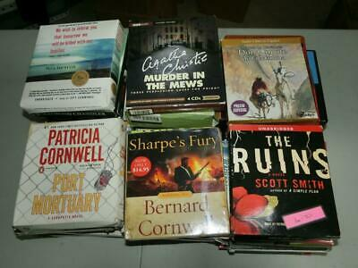 AUDIOBOOK lot of 40 BOOKS ON CD * all genres WHOLESALE *