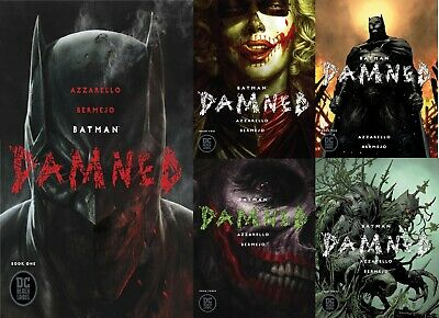 Batman Damned Set Of 3 Issues 5 Covers Main And Variant Edition (Mr) Dc 2019