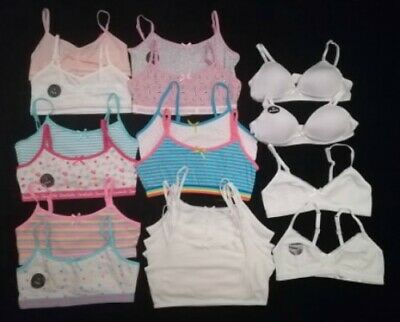 PRIMARK Girls 5 or 2 Pack Young Girls Teenage Crop Tops Cami Vest First Bra Bras