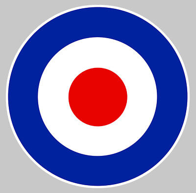 Détails sur COCARDE RAF ANGLAISE AVION ROYAL AIR FORCE GUERRE STICKER AUTOCOLLANT 10cm CA126