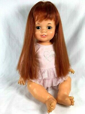 Vintage Ideal Baby Crissy 24 Inch Baby Doll Grow Hair Works 1973