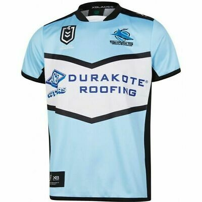 Cronulla Sharks NRL 2019 X Blades Home Jersey Adults, Kids & Toddlers Sizes!