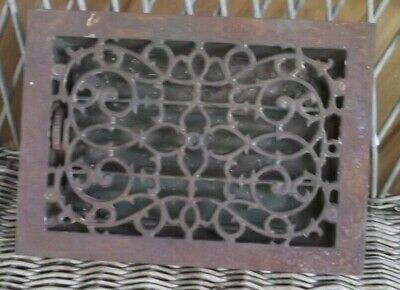"Cast Iron Register Grate  13 7/8"" X 10 7/8"" Outside Edges"