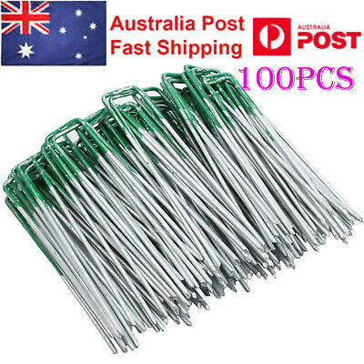 100PCS Lawn Fixed Pegs Anchor Weed Mat Fastening Turf Pins Pegs Grass Tent Pins
