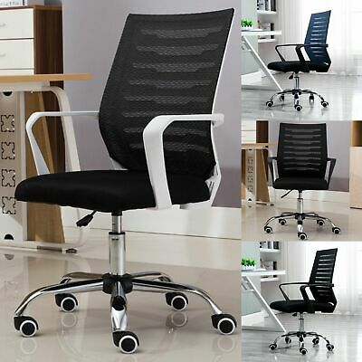 Heavy Duty Height Adjustable Practical Office Mesh Chair 5 Casters