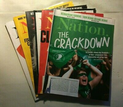 The Nation Magazine 2019 March 25, April 1, 29; May 6, 13 & 20/27 -Free Ship