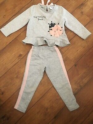 Italian Designer Special Day T Love Baby Cross Grey Tracksuit Age 4