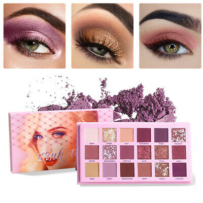 Nude Eye Shadow Beauty Palette Makeup 18Colors Matte Shimmer Glitter Eyeshadow d