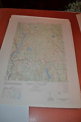1940's Army (like USGS) topographic map Westhampton Massachusetts -6468 IV SE