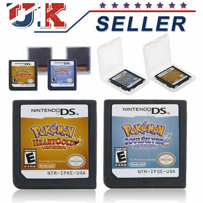 HeartGold / SoulSilver / Platinum Version Game Card Fits 3DS NDSI NDSLL NDS Lite