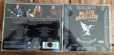 Black Sabbath - The End 4 February 2017 Birmingham 2 CD Ozzy Osbourne Iommi
