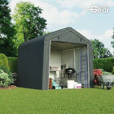 Garden Gear Apex Waterproof Shed 6x6 - 8x8ft Firewood Log Portable Car Storage