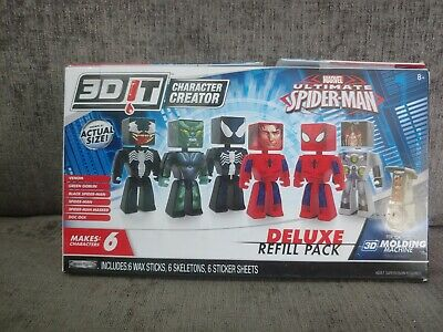 3D IT CHARACTER Creator Marvel Ultimate Spiderman Deluxe Refill Pack