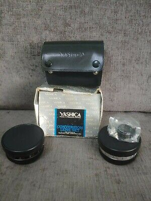 Yashica Yashikor Auxiliary Lens Set For Electro 35, Wide Angle, Telephoto, Case