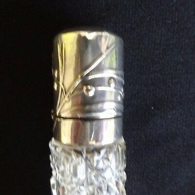 Antique Sterling Sterling Perfume Bottle Stopper Glass French Vintage France