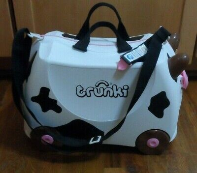 Discontinued Trunki Luggage Original Ride & Carry On Suitcase Frieda the Cow