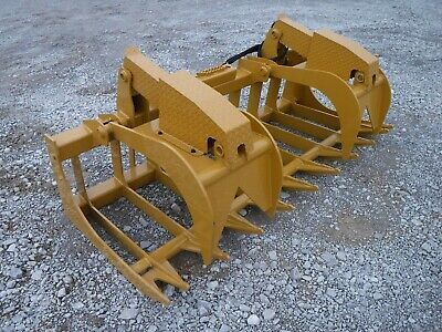 """CAT Skid Steer Attachment - 84"""" Heavy Duty Root Grapple Bucket - Ship $199"""