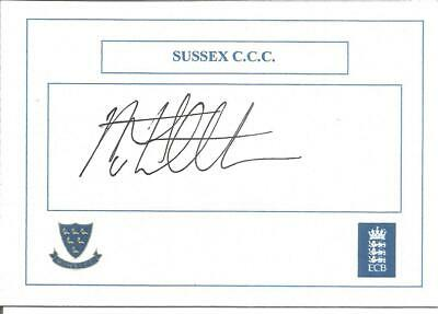 Cricket Autograph Stuart Whittingham Sussex C.C.C. Signed Card 10 x 7cm Z8985