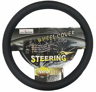 Toyota Prius Hybrid Black CAR Steering Wheel Cover LEATHER Soft PU 36cm SMALL S
