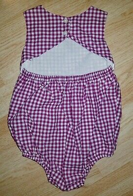 Baby Gap 18-24 months open back cut out purple gingham plaid check