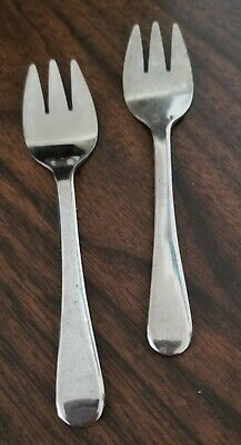 Set of 2 Vintage Silver plated Sheffield Ice Cream Forks /Sporks 5""