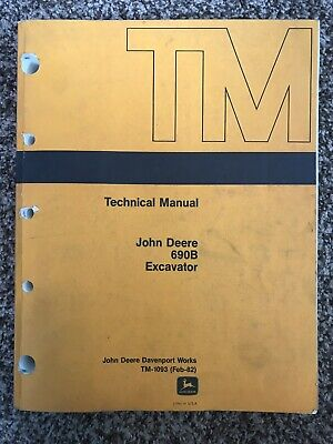 JOHN DEERE 690B Excavator Operators Manual JD-O-OMT73563 - $28 98