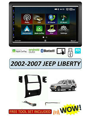 2002-2007 JEEP LIBERTY Stereo KIT, BLUETOOTH Apple CarPlay Android Auto