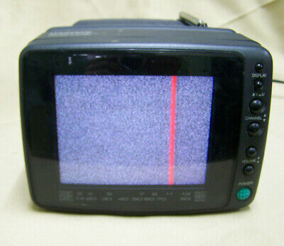"Magnavox 5"" Color Portable TV RD0510 C101 CRT AV MONITOR with power supply"
