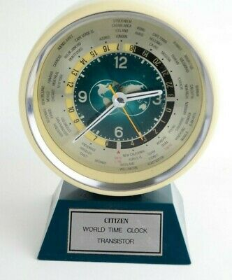 Vintage Citizen World Time Clock Transistor For Parts or Repair