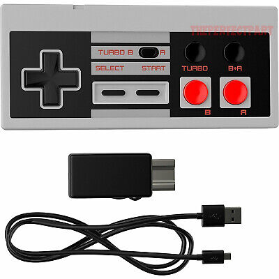 Rechargeable Wireless Controller Pad Turbo For Nintendo NES Classic Mini Console