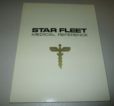 Star Trek Star Fleet Medical Reference (1977 Fan Edition, Rare White 1st Print)