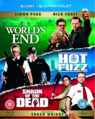 Simon Pegg, Nick Frost-World's End/Hot Fuzz/Shaun of the Dead Blu-ray NUEVO