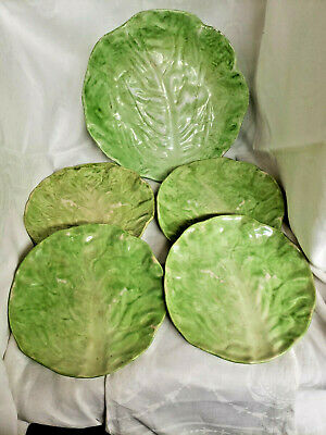 Salad Bowl and Plates - Lettuce Leaf Dishes - Wannopee Dishes - Trade Mark 196