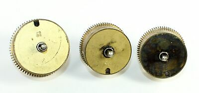 HERMLE MAINSPRING BARRELS with POSTS 2-40's and 1-41 - CLOCK PARTS TK158