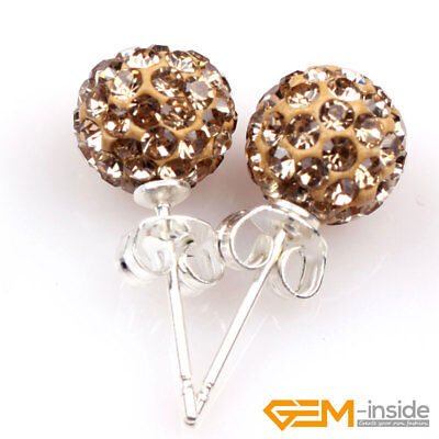 Fashion Sparkle Clay Gold Plated Earrings Set Women Ear Stud Jewelry Party