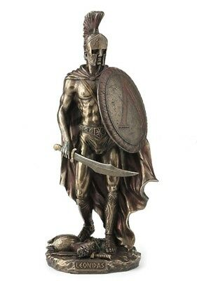 "10.5"" Leonidas Greek Warrior King Statue Sculpture Spartan Soldier Decor"
